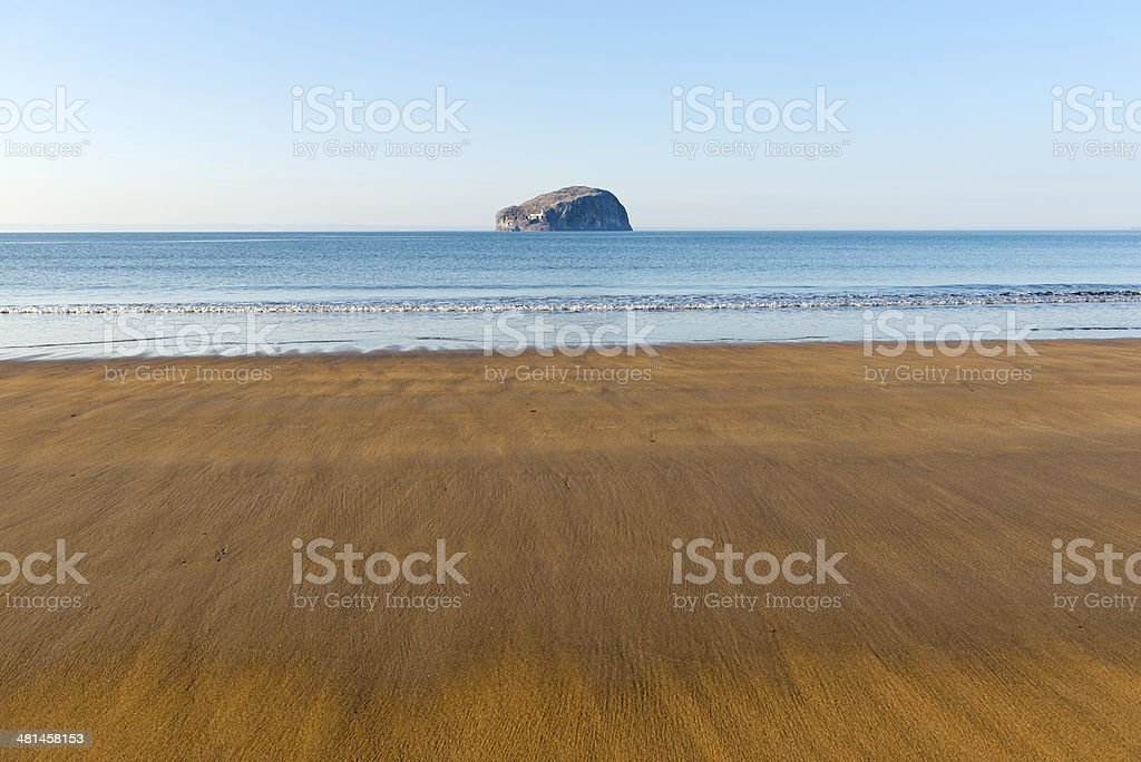 View from Seacliff Beach, Scotland stock photo