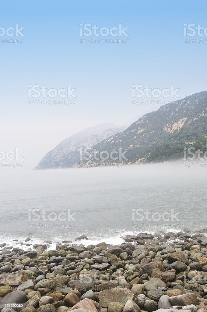 view from seashore stock photo