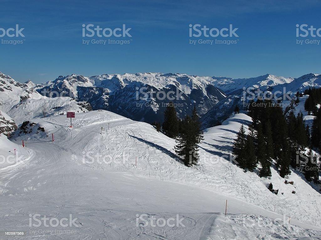 View from Seblengrat, Braunwald stock photo