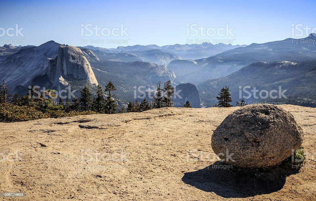 View from Sentinel Dome stock photo