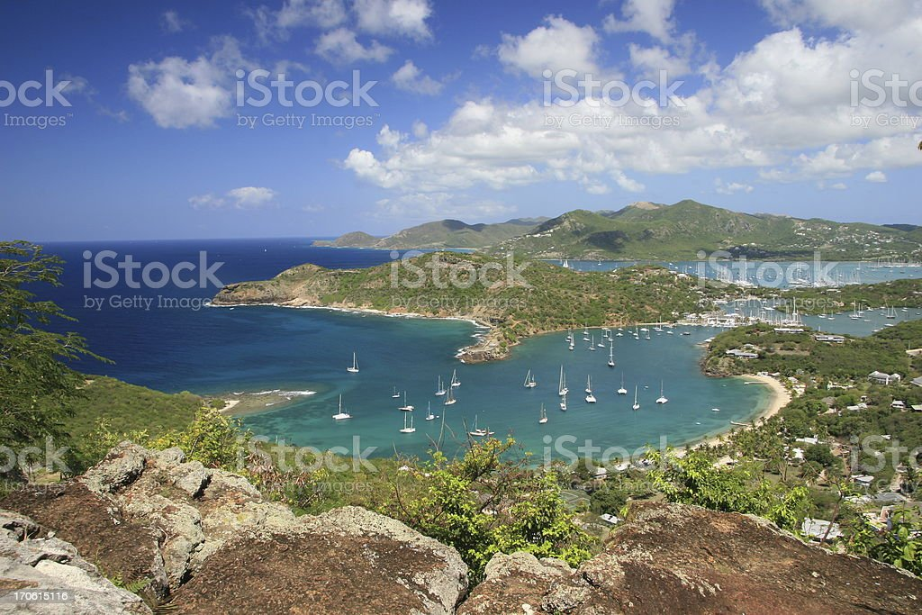 View from Shirley Heights Area of Antigua stock photo