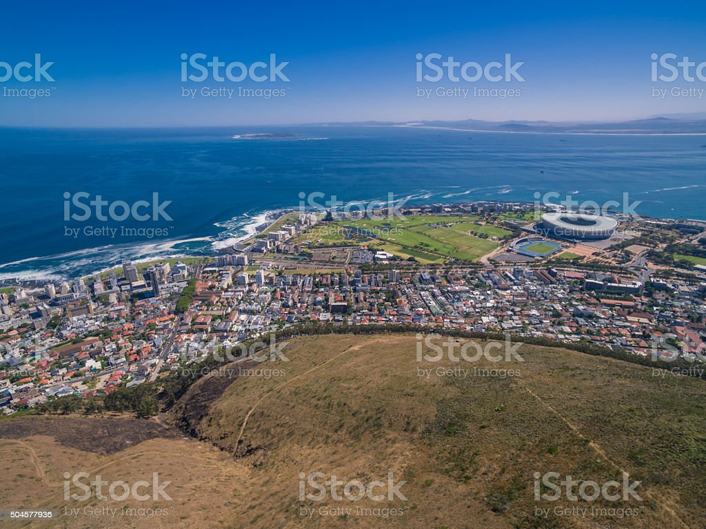 View from signal hill (Cape Town) stock photo