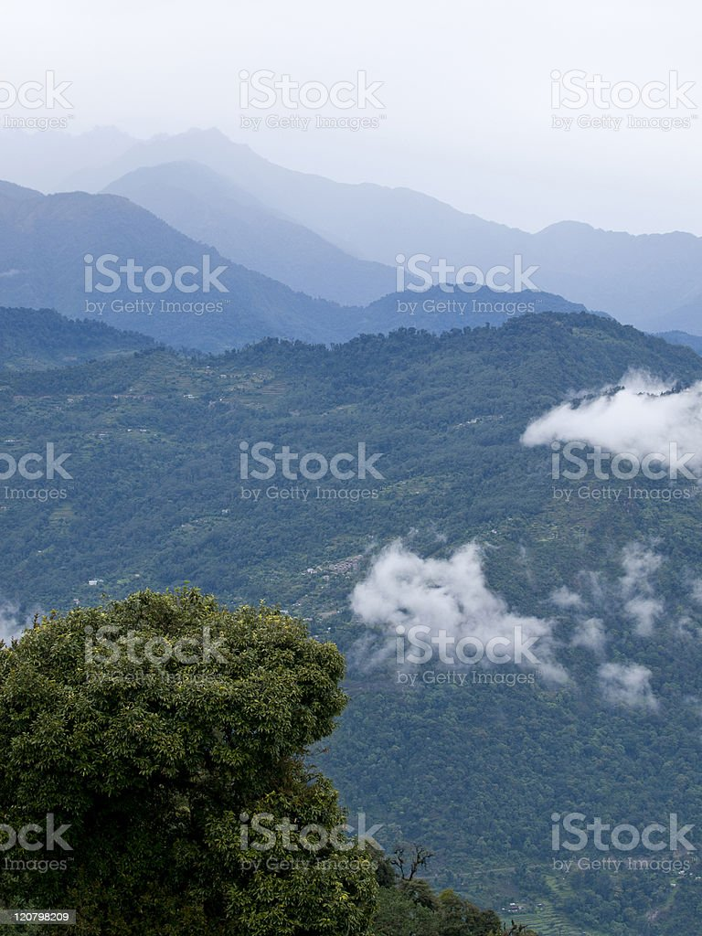 View from Sikkims ancient capitol Rabdentse (India) royalty-free stock photo