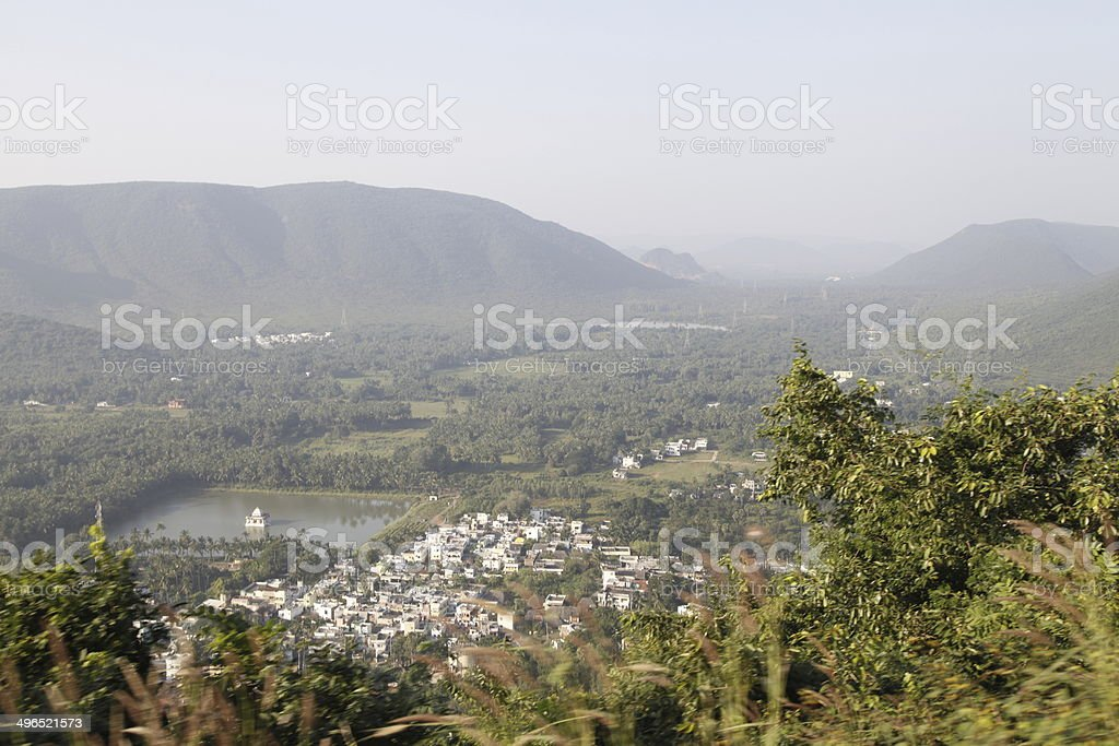 View from Simhachalam stock photo