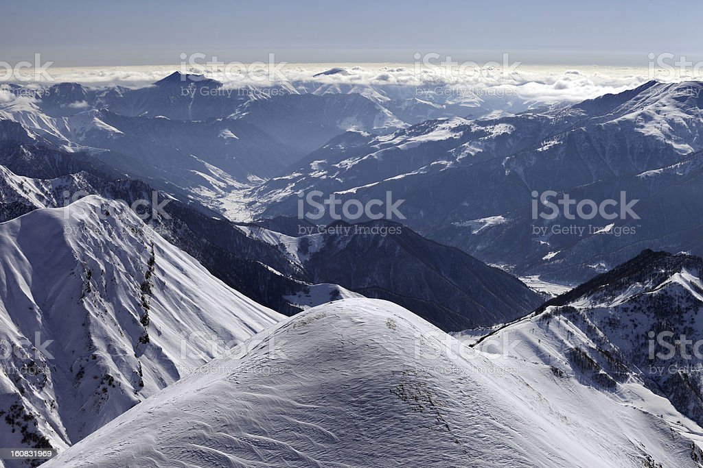 View from ski slopes royalty-free stock photo