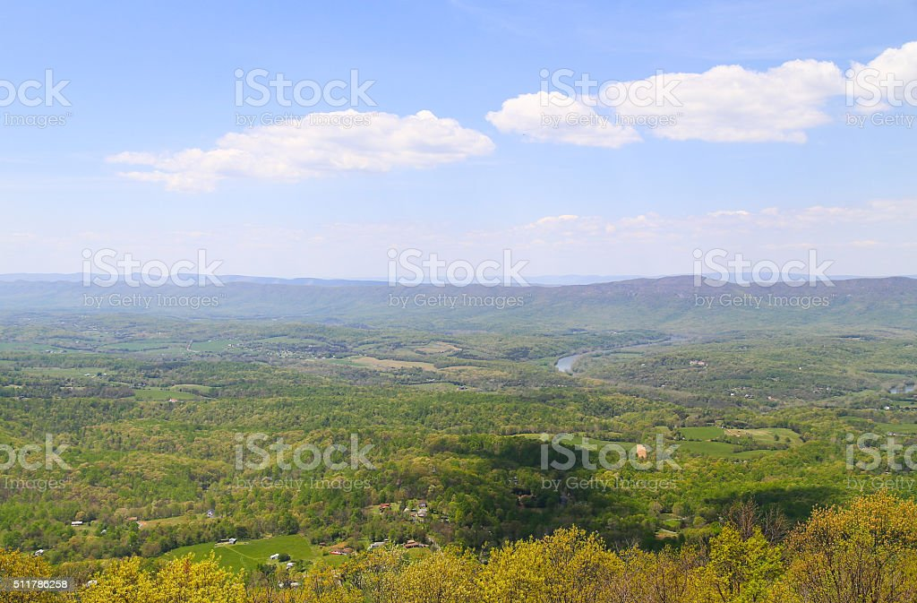 View from Skyline Drive stock photo