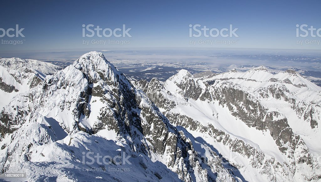View from Slovakia to Poland royalty-free stock photo