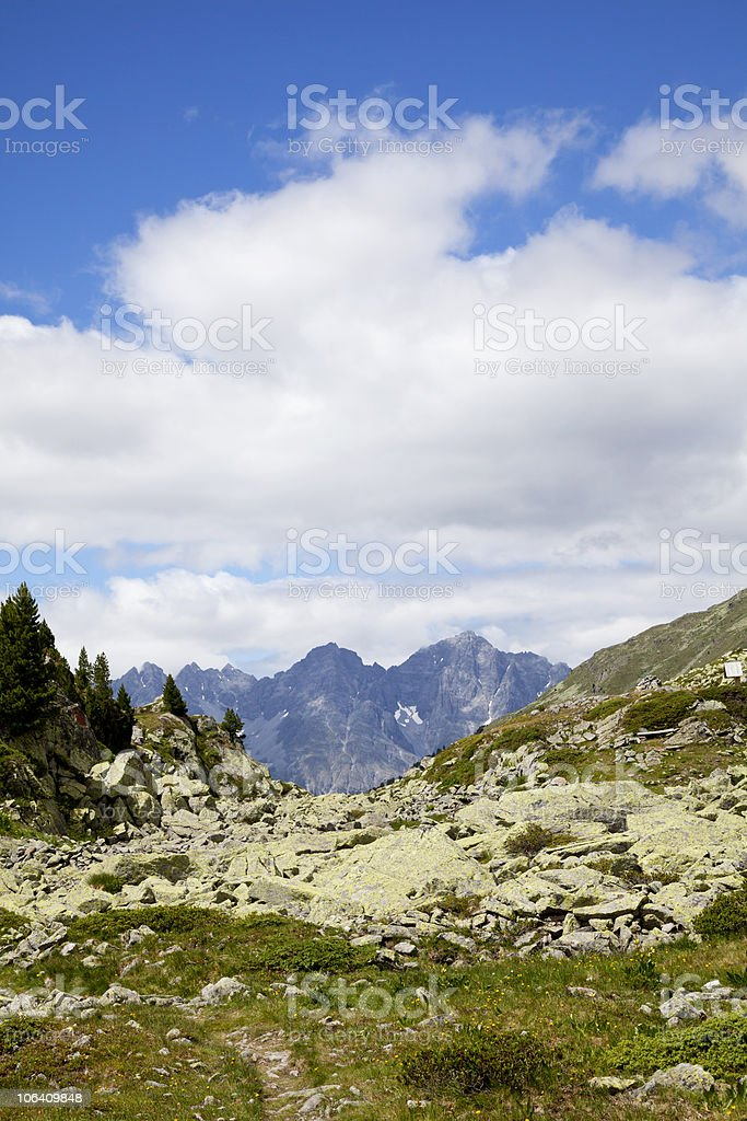 view from South Tirol onto the Swiss Alps royalty-free stock photo