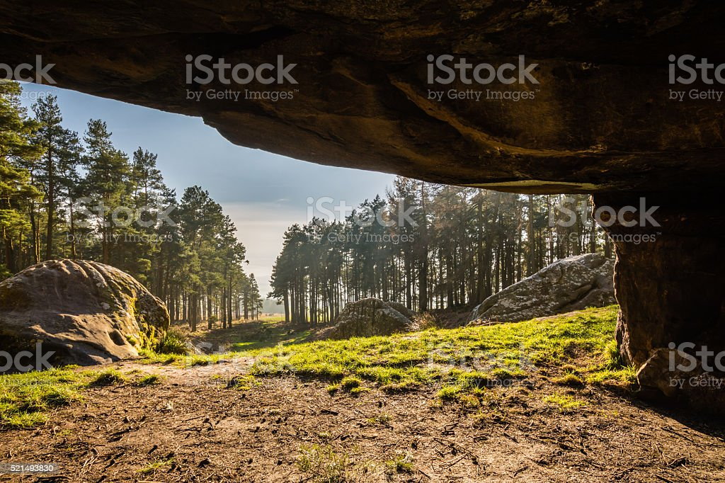 View from St Cuthbert's Cave stock photo