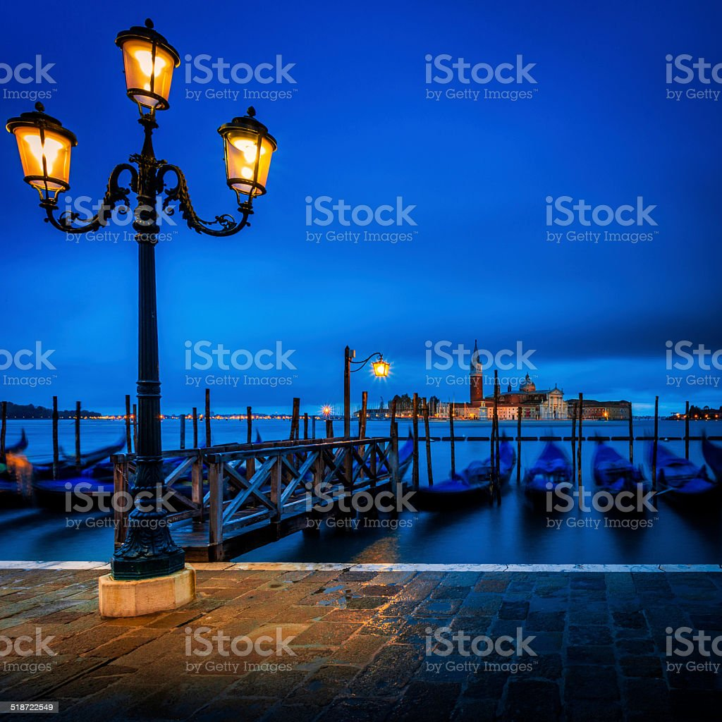 View from St Marc's Square with Gondolas stock photo
