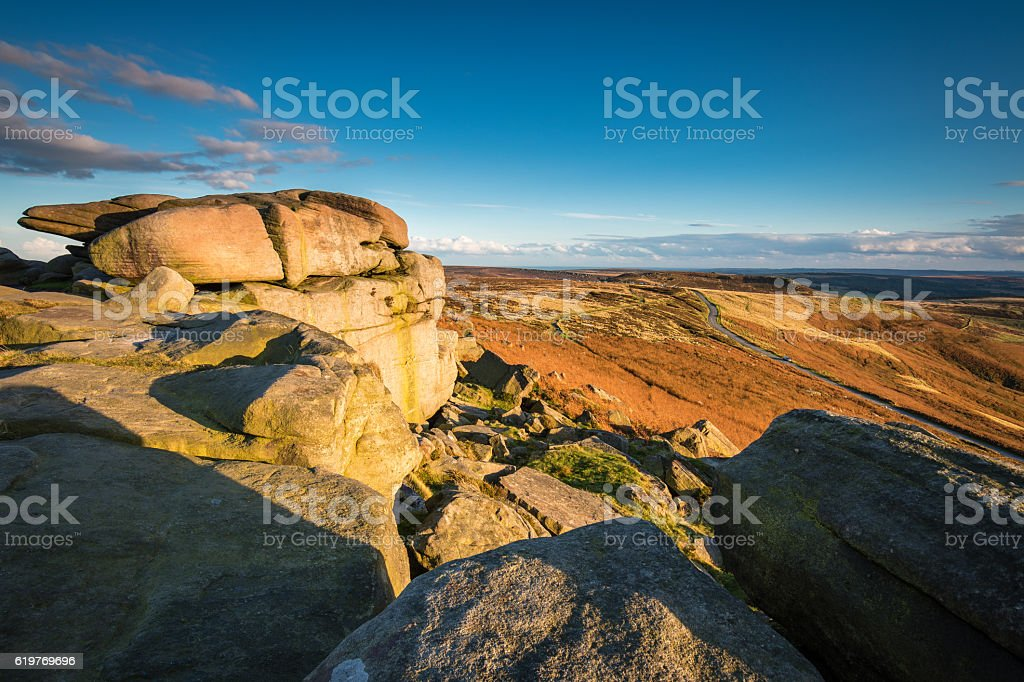 View from Stanage Edge stock photo