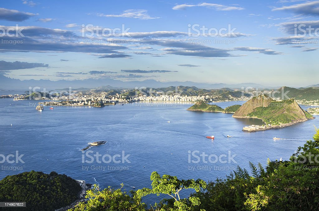 View from Sugarloaf Mountain royalty-free stock photo