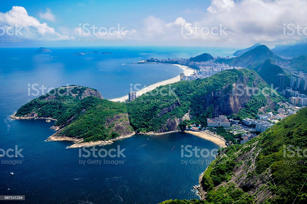 View from Sugarloaf Mountain stock photo