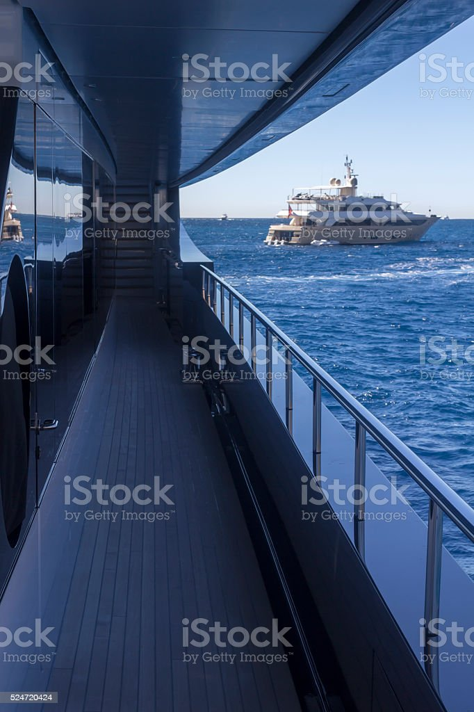 View From Super Yacht stock photo