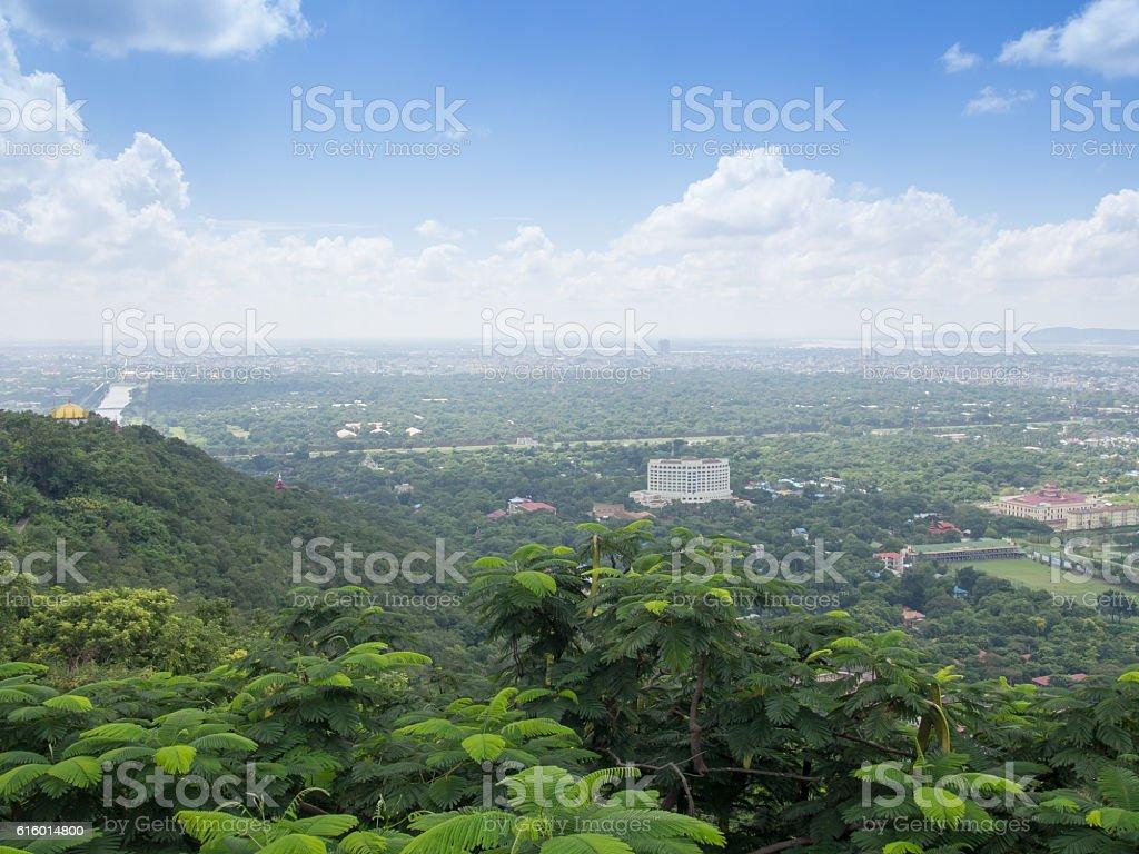 View from Sutaungpyae Paya, Mandalay, Myanmar stock photo
