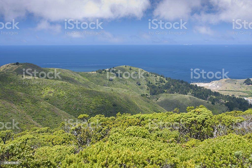 View from Sweeney Ridge stock photo