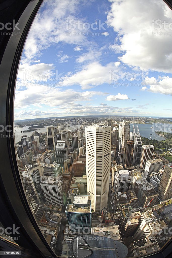 View from Sydney Tower royalty-free stock photo