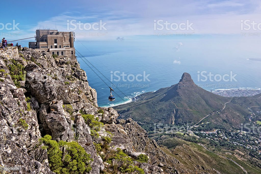 View from Table Mountain, Cape Town, South African stock photo