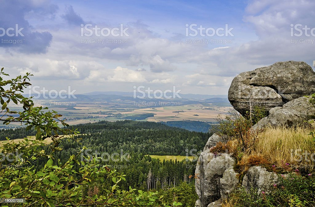 View from Table Mountains, Poland stock photo