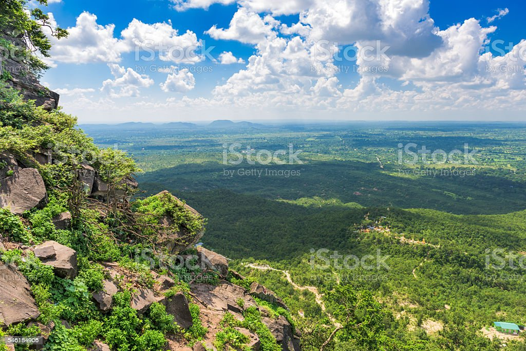 View From Taung Kalat stock photo