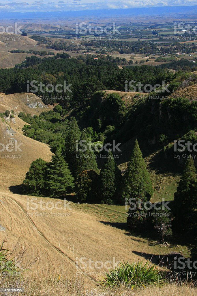 View from Te Mata Peak, Napier stock photo