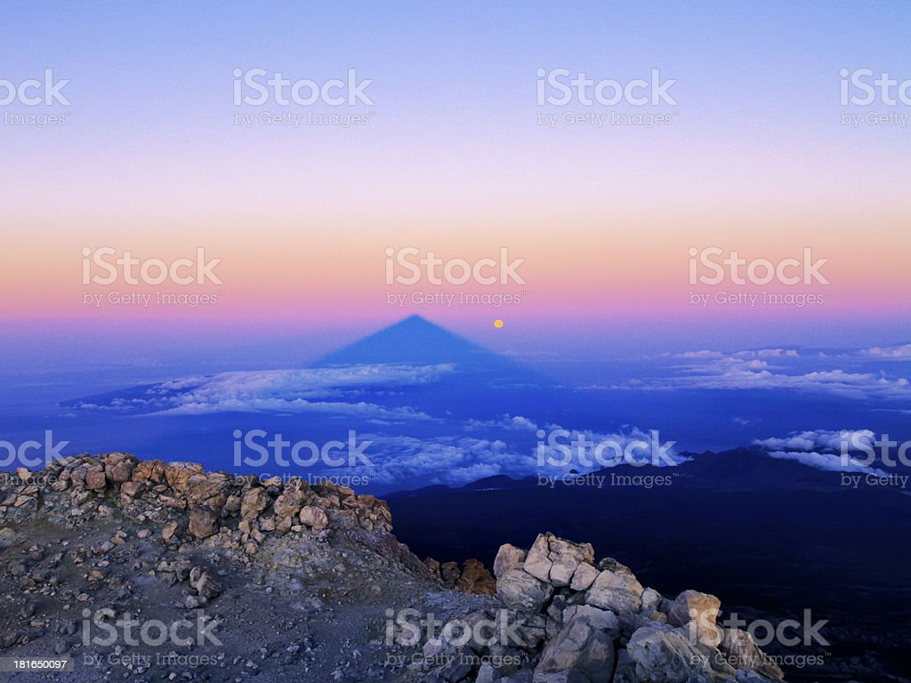 View from Teide royalty-free stock photo
