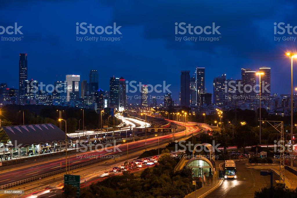 View from Tel Aviv University stock photo