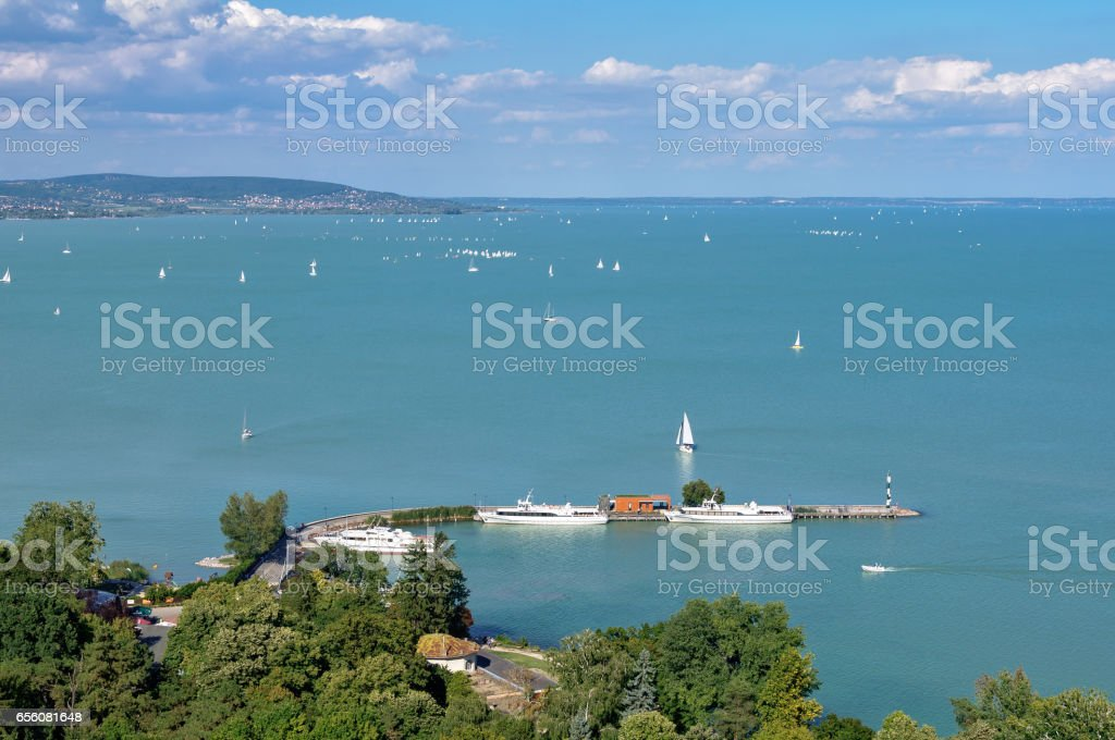 View from the Abbey - Tihany stock photo