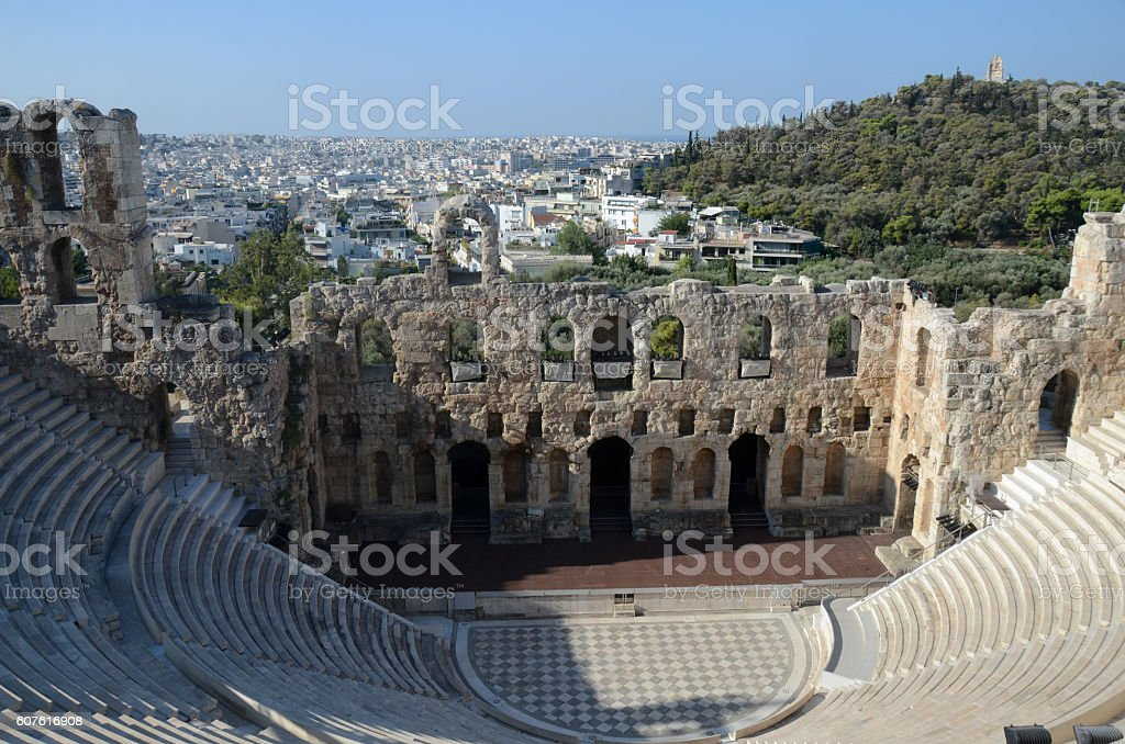 View from the Acropolis Hill, Athens, Greece stock photo