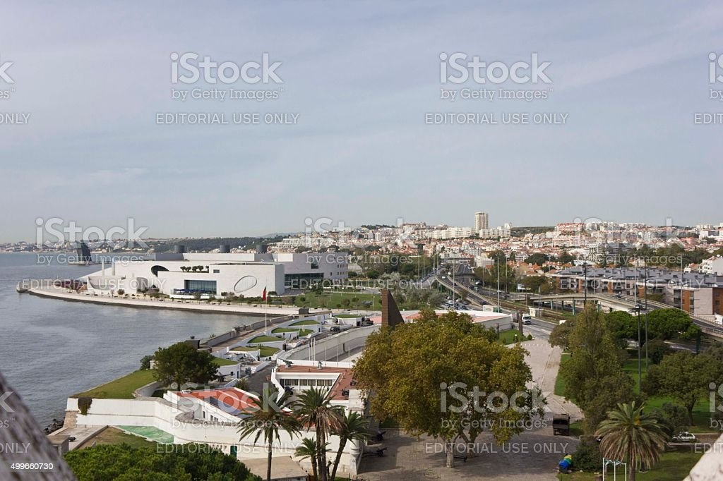 View from the Belem Tower of Lisbon stock photo