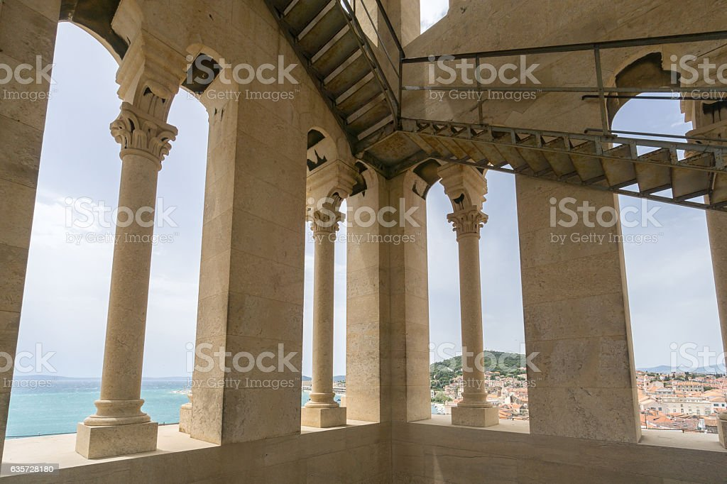 View from the Bell Tower, Cathedral of Saint Domnius stock photo
