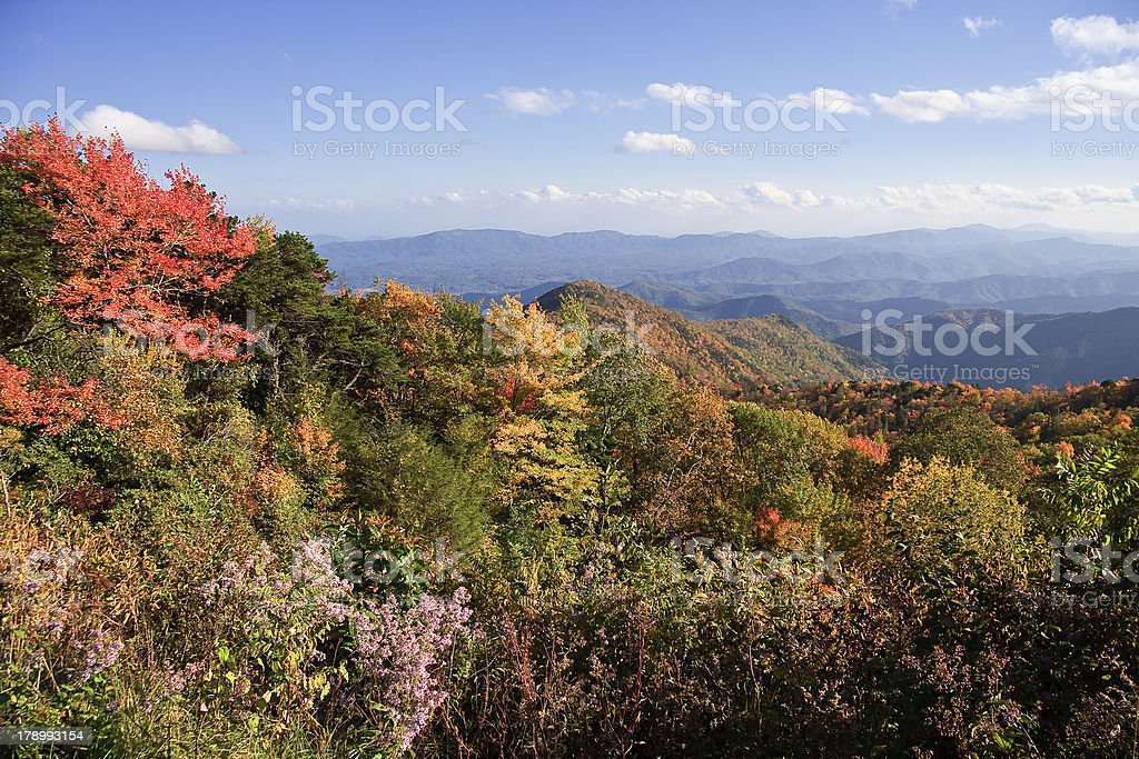 View from the Blue Ridge Parkway royalty-free stock photo