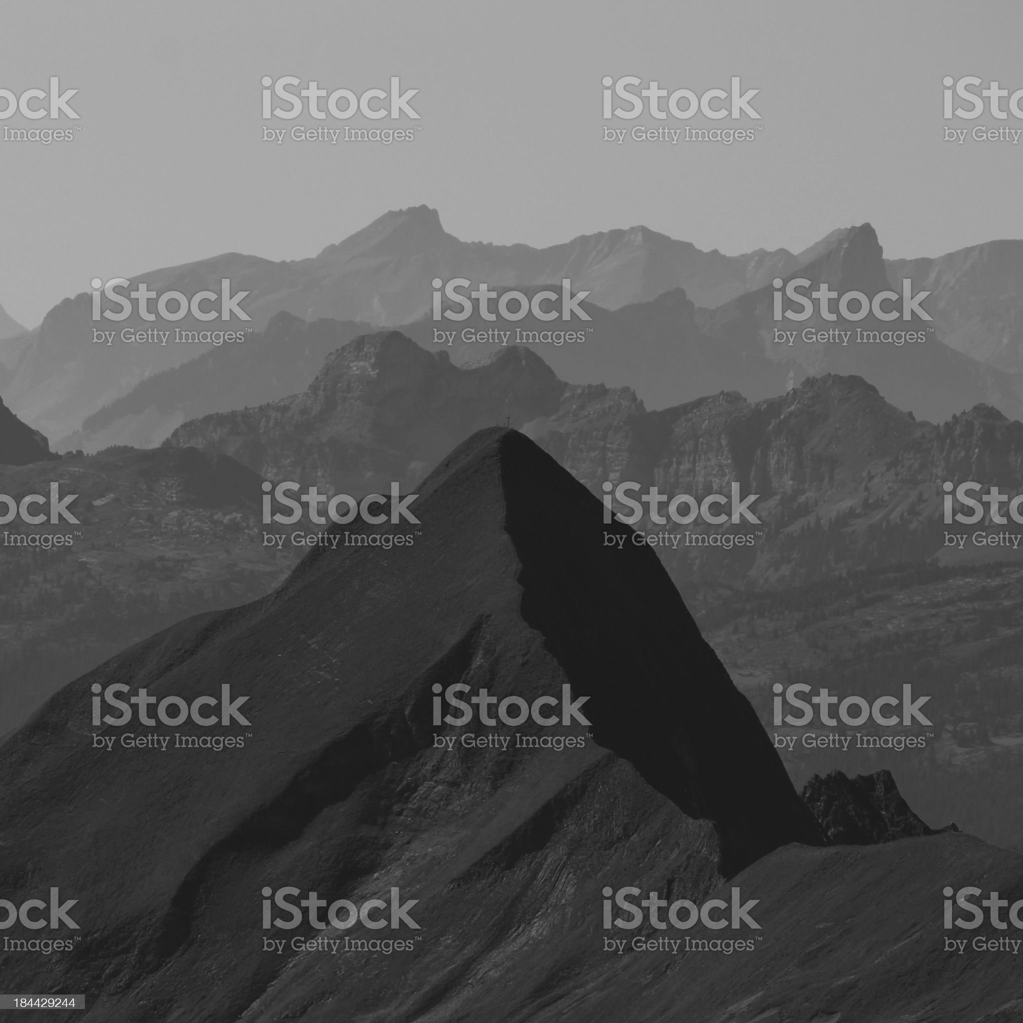 View from the Brienzer Rothorn royalty-free stock photo