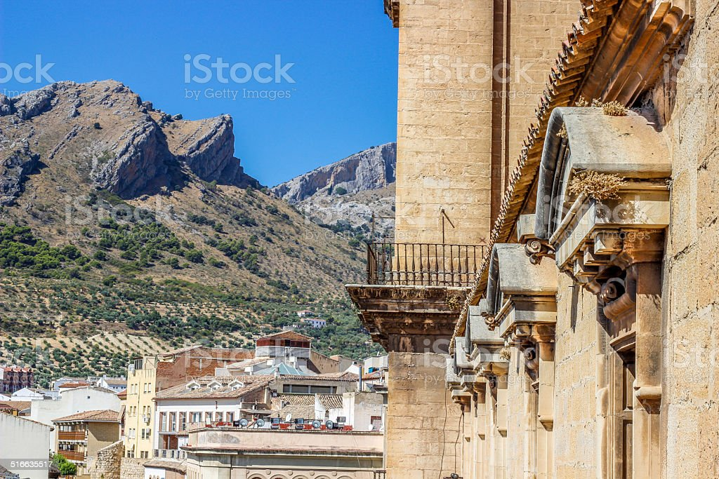 view from the cathedral of Ja?n royalty-free stock photo