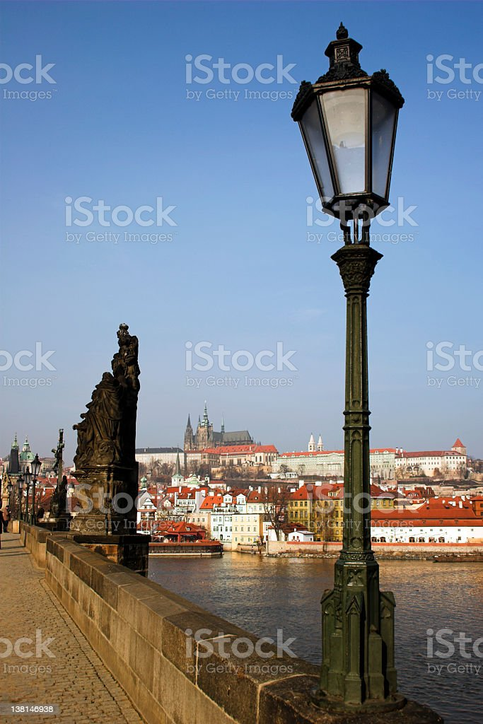View from the Charles Bridge royalty-free stock photo