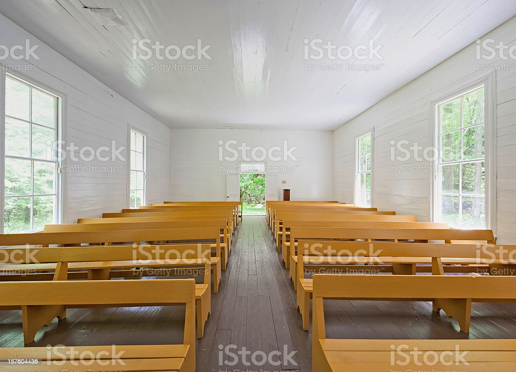View from the church pulpit royalty-free stock photo
