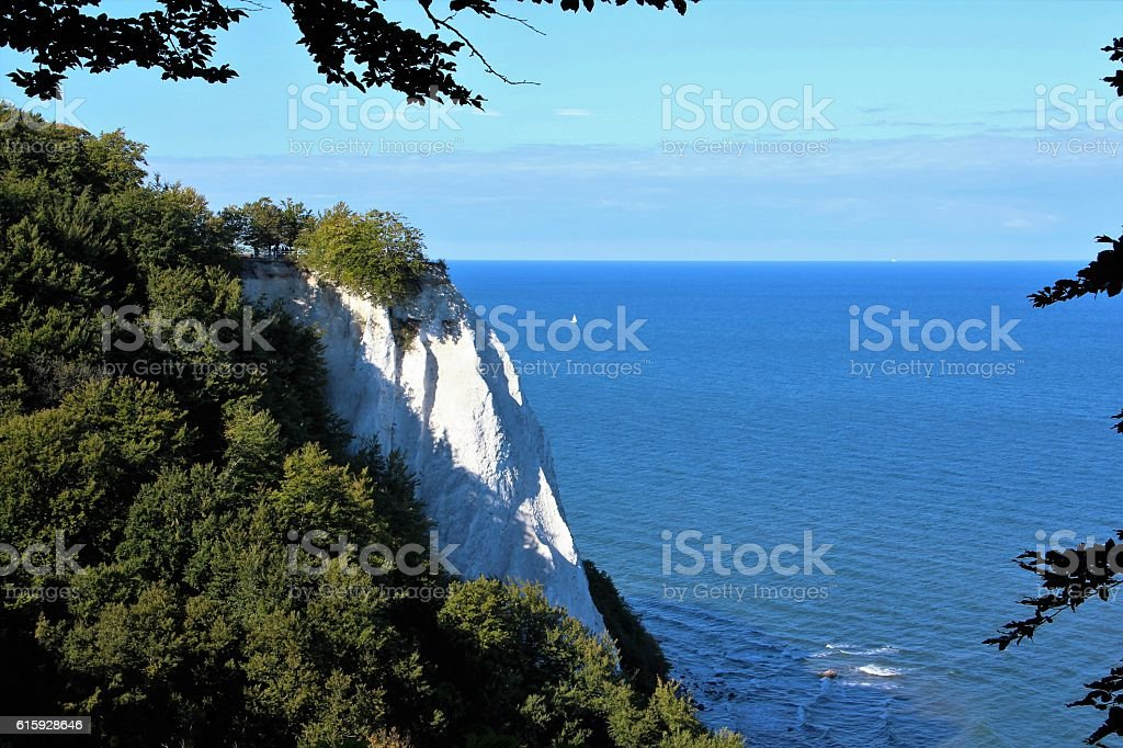 View from the Cliffs of Ruegen to the sea stock photo