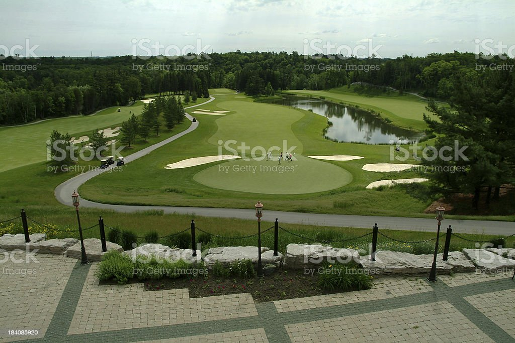 View from the clubhouse 2 stock photo
