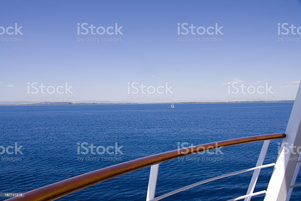 View from the cruise ship royalty-free stock photo