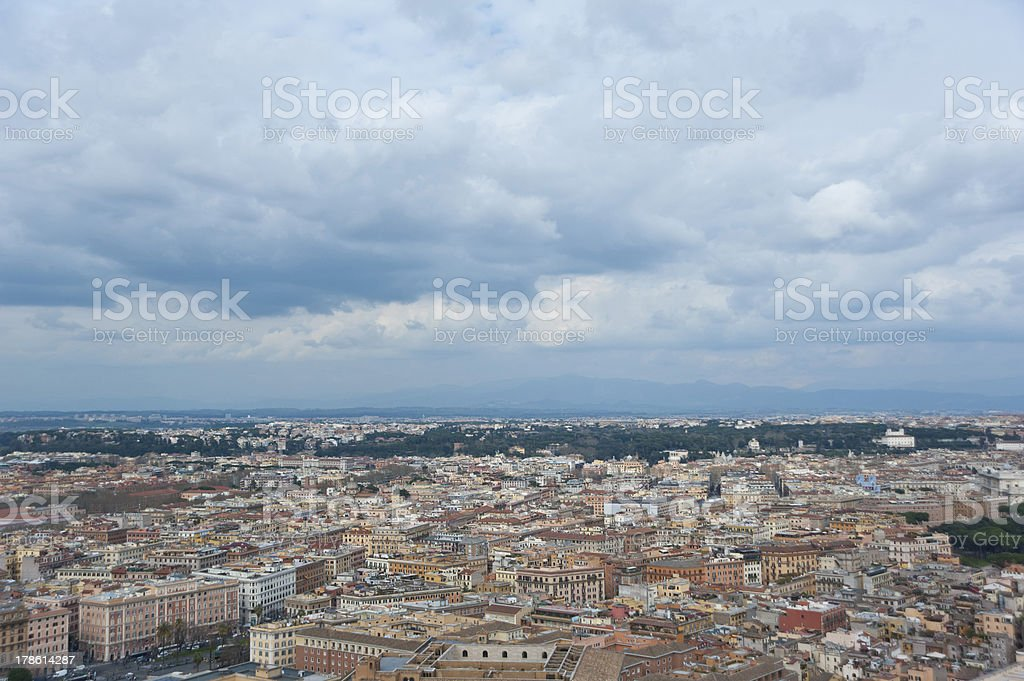 View from the cupola of St. Peter's Basilica . Rome. royalty-free stock photo