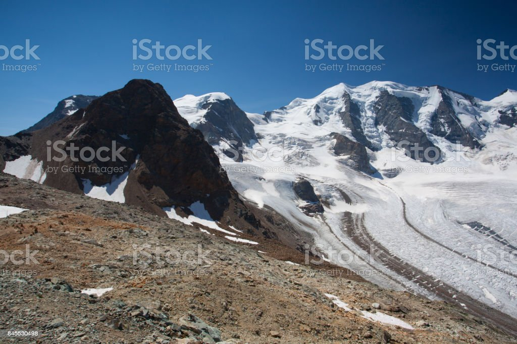 View from the Diavolezza stock photo