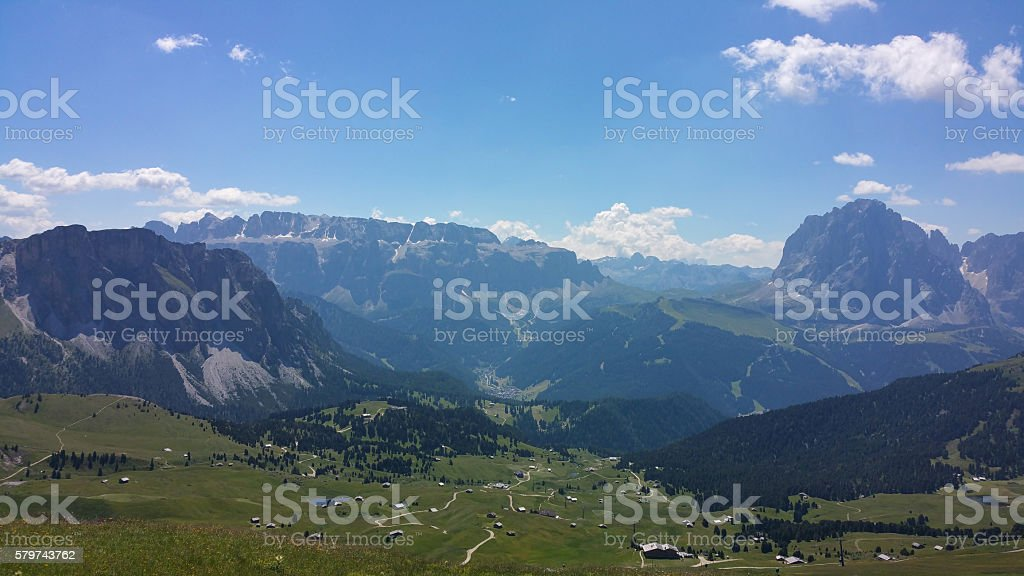 View from the Dolomites stock photo