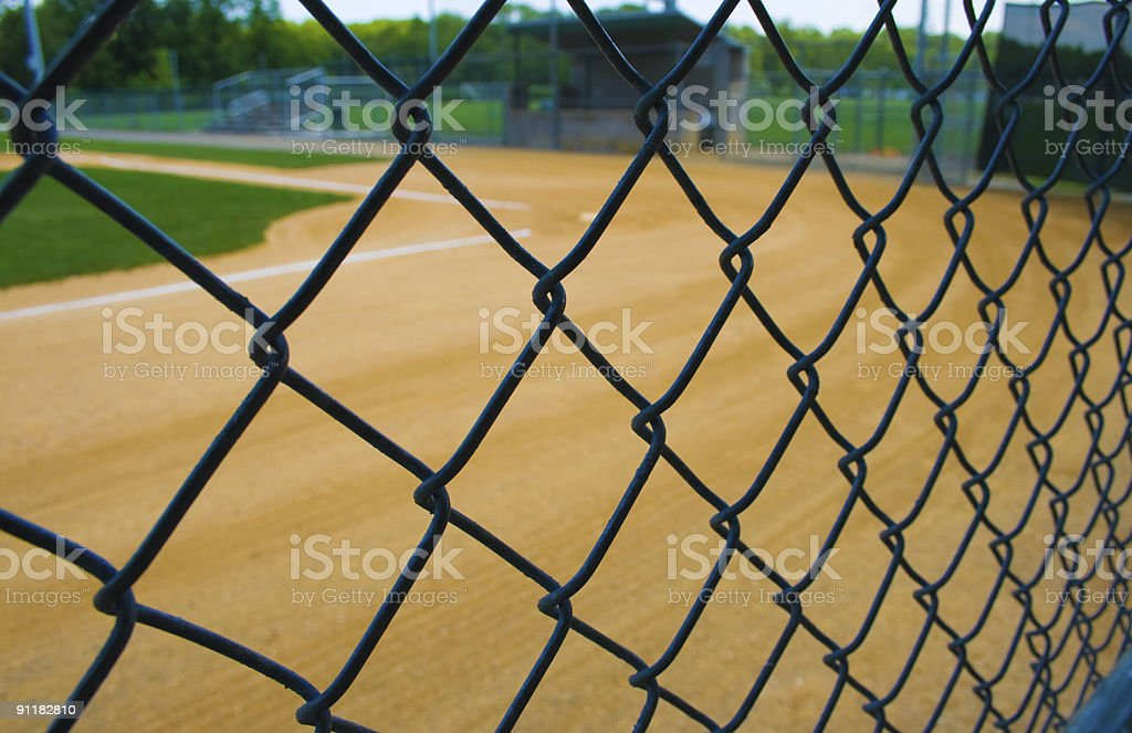 View from the dugout royalty-free stock photo