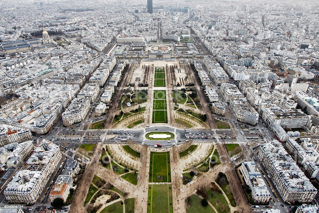 View from the Eiffel Tower, Paris. France stock photo
