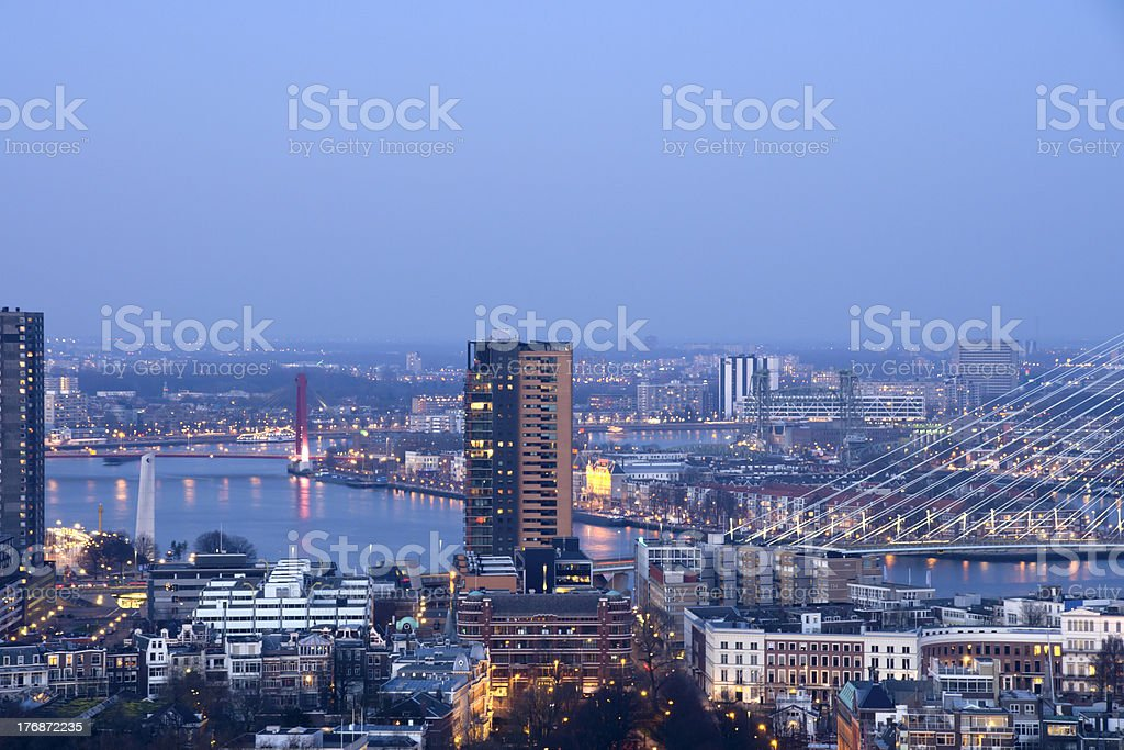 View from the Euromast royalty-free stock photo
