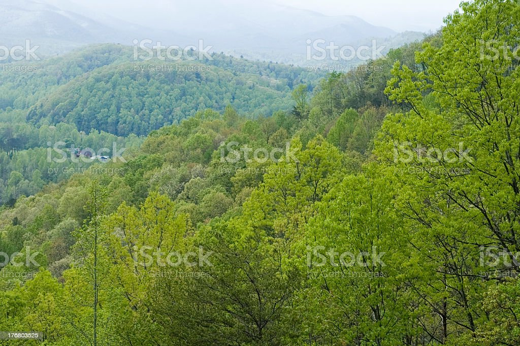 View from the Foothills Parkway, East TN stock photo