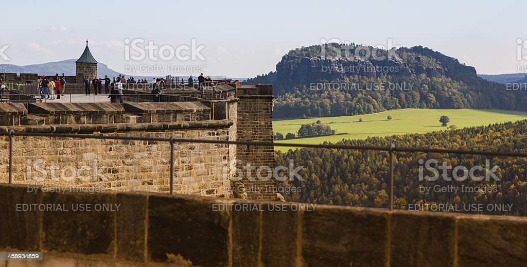view from the fortress Festung Konigstein stock photo