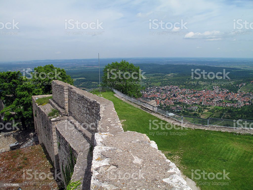 View from the Fortress 'Hoher Neuffen' stock photo
