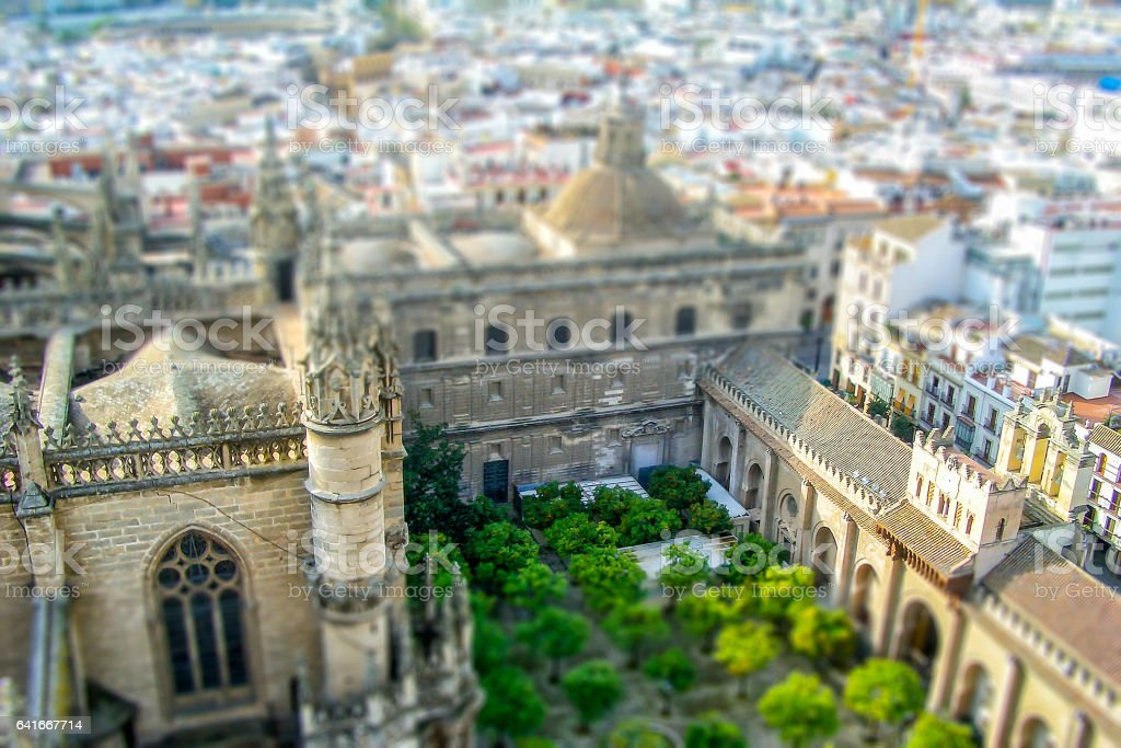 View from the Giralda Bell Tower, Seville, Spain stock photo