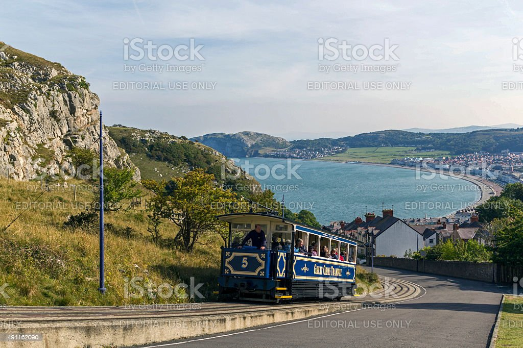 View from the Great Orme, Llandudno, North Wales. stock photo